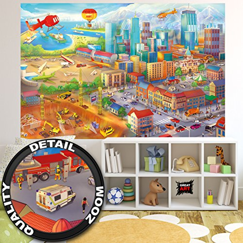Wallpaper Childrens Room comic style wall picture decoration