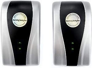 Power Save Energy Saver Electricity Saving Box, 90V-250V 30KW Energy Saver Saving Device for Household Office Market Factory US Plug (2 Pack)