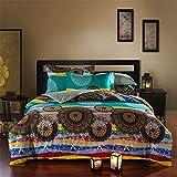 Newrara Bohemian Bedding Boho Comforter Set Queen Size 5pieces (5)