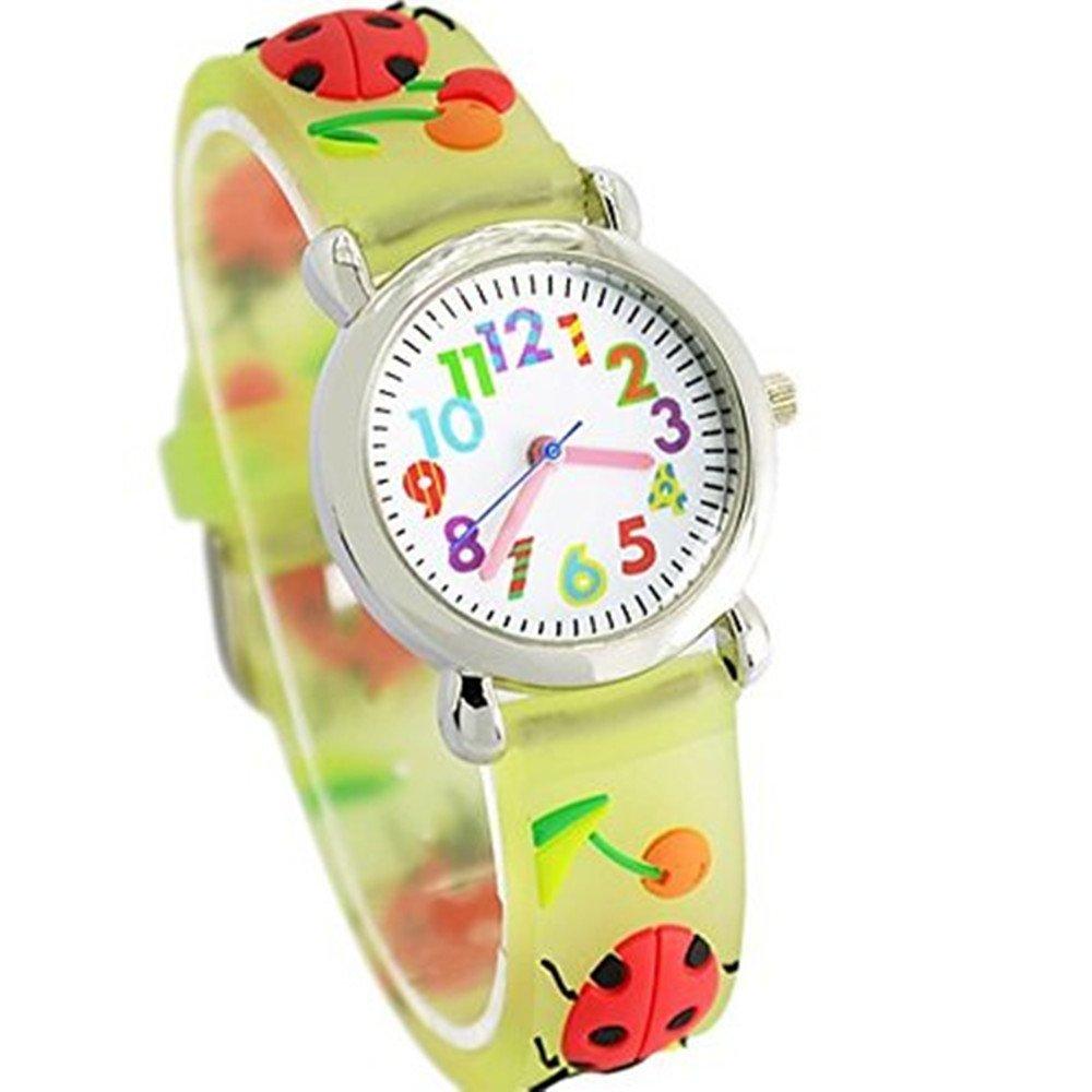 Fashion Brand Quartz Wrist Watch Baby Children Girls Boys Watch Chafer Pattern Waterproof Watches
