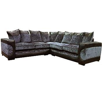 Marvelous Halo Corner Sofa Black Grey Fabric Corner Sofa Amazon Co Uk Lamtechconsult Wood Chair Design Ideas Lamtechconsultcom