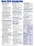 Microsoft Word 2010 Introduction Quick Reference Guide (Cheat Sheet of Instructions, Tips & Shortcuts - Laminated Card)