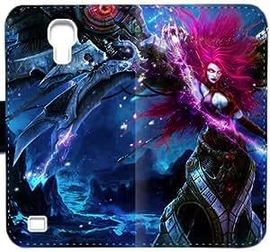 Blade Mistress Morgana T1R8Q Funda Samsung Galaxy S4 caja de cuero funda 8v74xI Claro Phone funda personalizada del caso del tirón