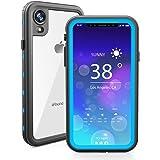 iPhone Xr 防水 シェル, Mrstar 極度の フル-ボディー バックシェル 水中 耐衝撃性 バックシェル 汚れ防止 耐久性のある 封印された カバー ケース シェル 皮膚 保護者 の iPhone Xr Light Blue