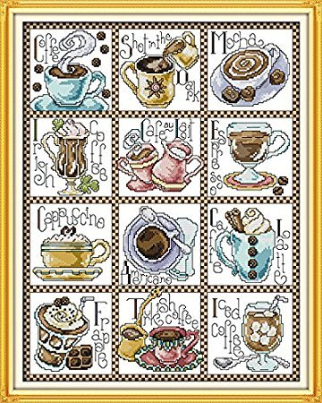 Counted Cross Stitch Kits December Coffee 14 Count 16