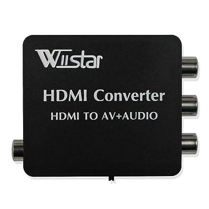 HDMI a AV CVBS 3RCA Conversor de vídeo compuesto con audio Toslink SPDIF coaxial adaptador soporte