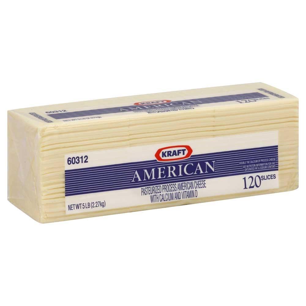 Kraft Regular American Sliced White Cheese, 5 Pound -- 4 per case. by Kraft (Image #4)