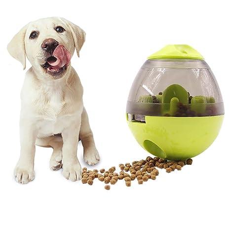 Roblue Pelota dispensador de Comida para Perro Gatos Pequeño Animales plástico 11.7 x 10 cm