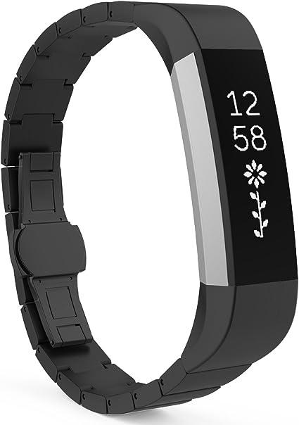 Fitness Armband schwarz für FitBit Alta HR Smartwatch Armband