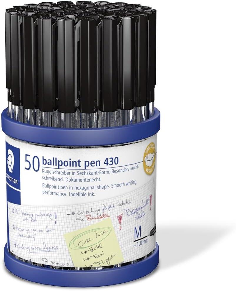 nero /Penna a sfera Staedtler stick 430/M9CP50/TH Medium 1.0/mm tip 0.35/mm Line/