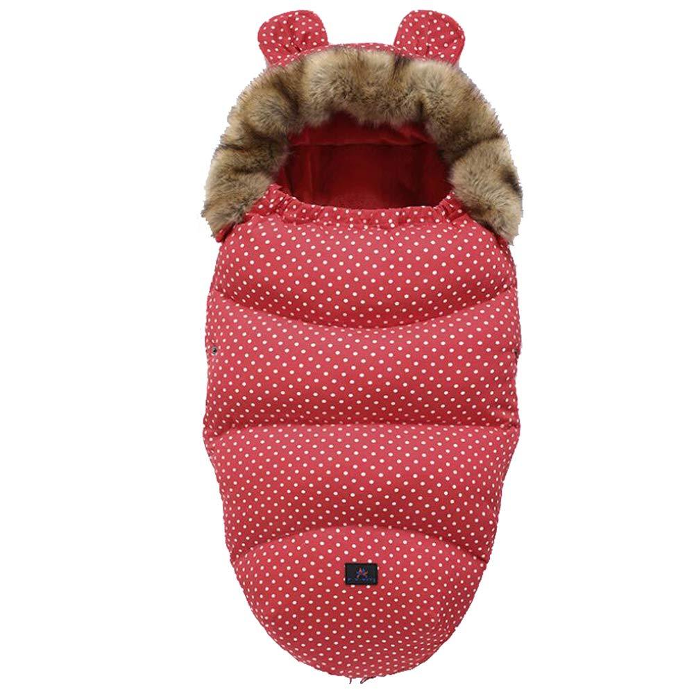 Kinderwagen Schlafsack Baby Winter Fußsack Fußsäcke Für Kinderwagen Baby Schlafsack Baby Schlafsack Für Kinderwagen Winddicht Wasserdicht Kaltfest Waschbar Roter Punkt Baby