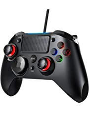 VicTsing Controller PS4, Joystick Playstation 4 Gamepad Dual-Vibration/Turbo/Trigger, Compatibile per PS4 / PS3 / PC(Windows XP/7/8/8.1/10) / Android/Steam, Nero