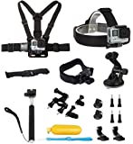 Lightdow OEM Pro Accessory Kit Amateur - Prosumer - Professional Sports Camera Accessories Bundle for LD4000 LD6000 LD 4K Go Pro Gopro Camera (Prosumer Bundle)
