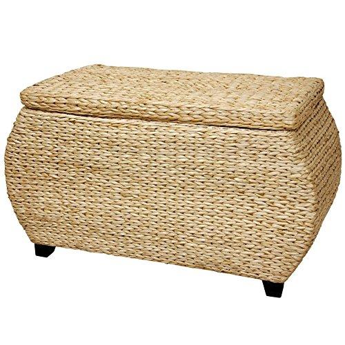 Oriental Furniture Rush Grass Storage Box - Natural by ORIENTAL Furniture