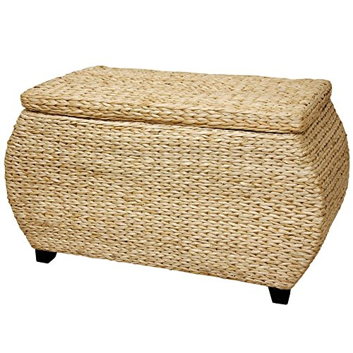 Rattan Baskets Weave - Oriental Furniture Rush Grass Storage Box - Natural