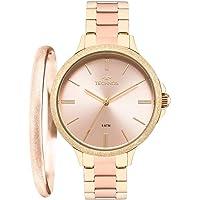 Relógio Technos Feminino Ref: 2035mmb/k4t Rosé + Semijóia