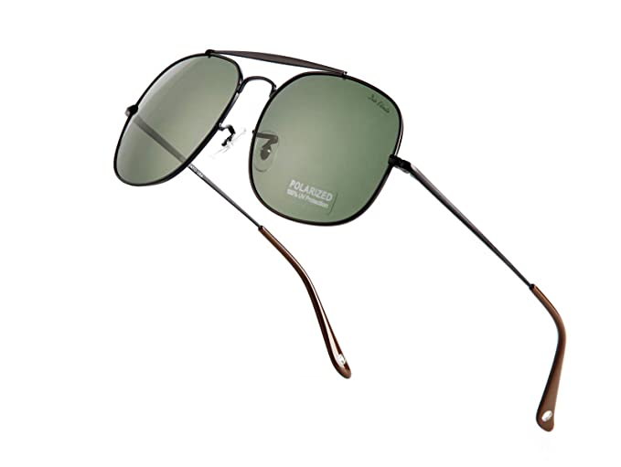 465fc0249c Diovento Men's Pilot Aviator Polarized Sunglasses Women Wayfarer Military  Style