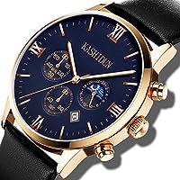 [Patrocinado] KASHIDUN ZH-JHP relojes impermeables informales análogos de cuarzo de lujo para hombre, color negro