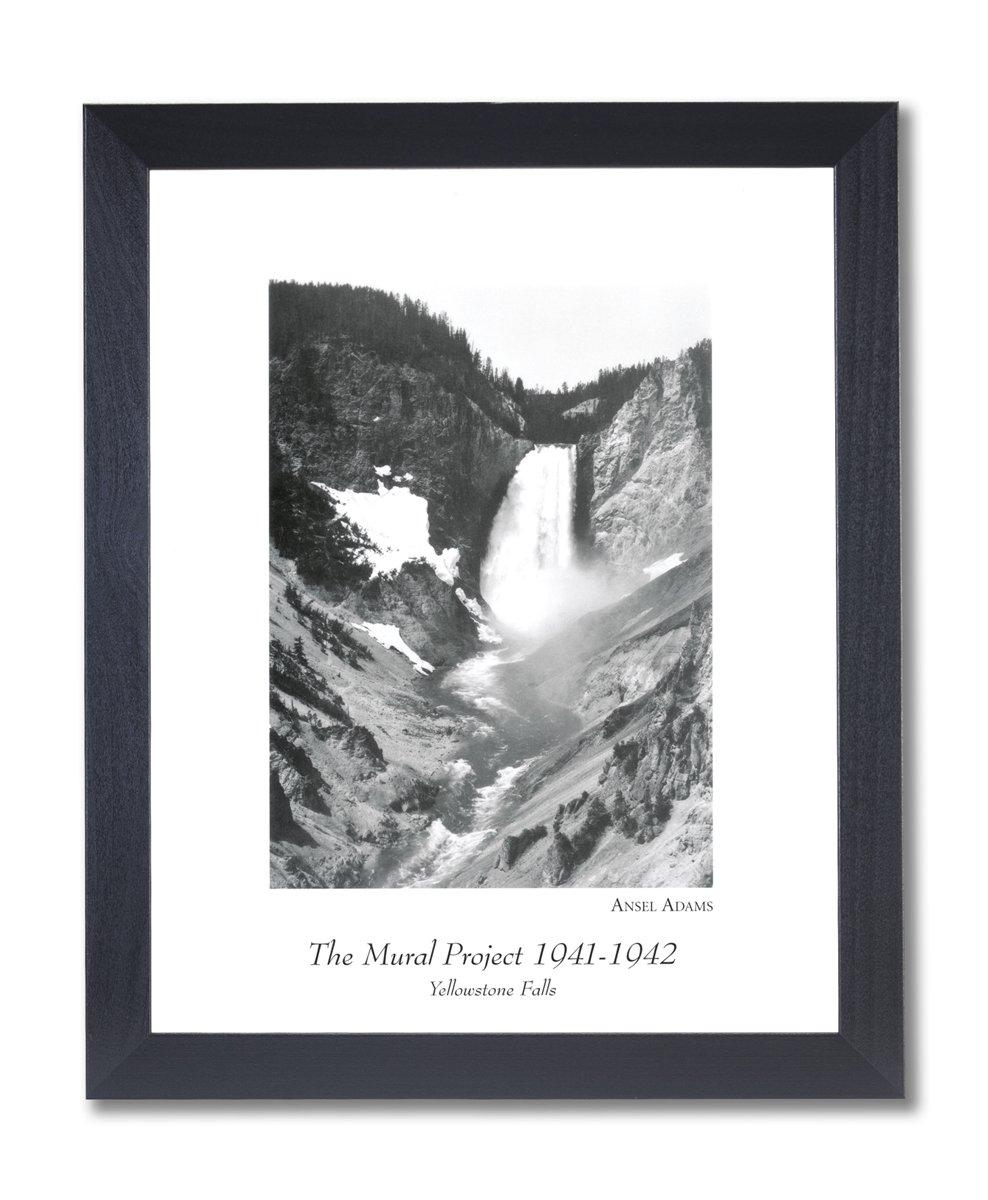 Amazon.de: Massivholz schwarz gerahmt Ansel Adams Yellowstone Fällt ...