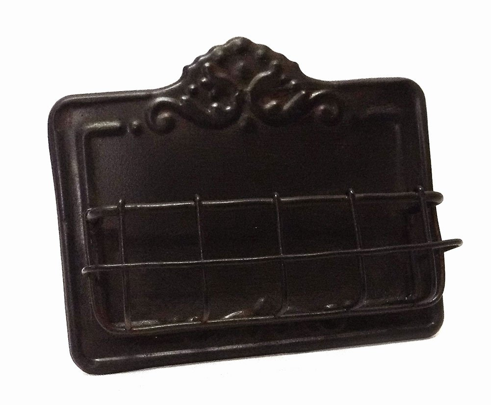 Vintage Style Business Card Holder - Antiqued Dark Brown Finish VIP Home and Garden