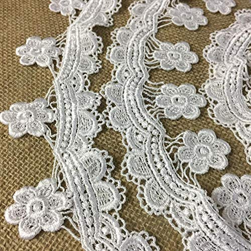 - Lace Trim Scallops and Hanging Daisy Venise 2.5