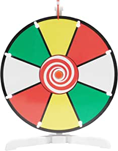 """Spinning Prize Wheel 12"""" Color Face Dry Erase Spin Wheel with Classic Peg Design"""