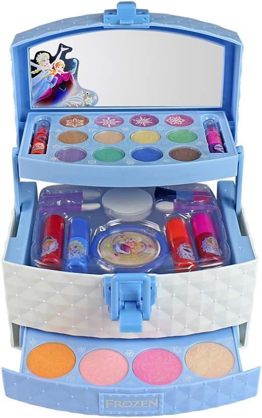 Blue-Yan Girls Cosmetics Toys, Set de Maquillaje de Princesa Disney para niñas, Juguetes cosméticos Lavables con Sombra de Ojos, lápiz Labial, Esmalte de uñas, brocha, hojaldre y Rubor, 32 Piezas: Amazon.es: Hogar