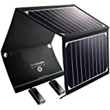 RAVPower Solar Charger 16W Solar Panel with Dual USB Port Waterproof Foldable Compatible iPhone X, 8 & 8 Plus, iPad Pro Air 2 Mini, Galaxy S8 S7 S6 Edge Plus, Note 5 4, LG, Nexus and Camping Travel