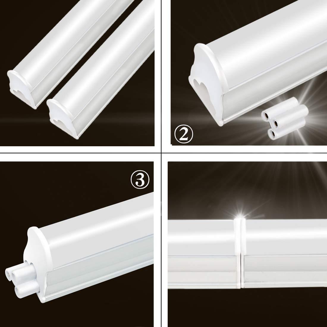 3FT Tubos Fluorescentes LED Lámpara 4000K 1125LM T5 Lámparas Lluminación Gabinete Interior Luces Bar Garaje Sala de Conferencias Oficina Escuela Hospital ...
