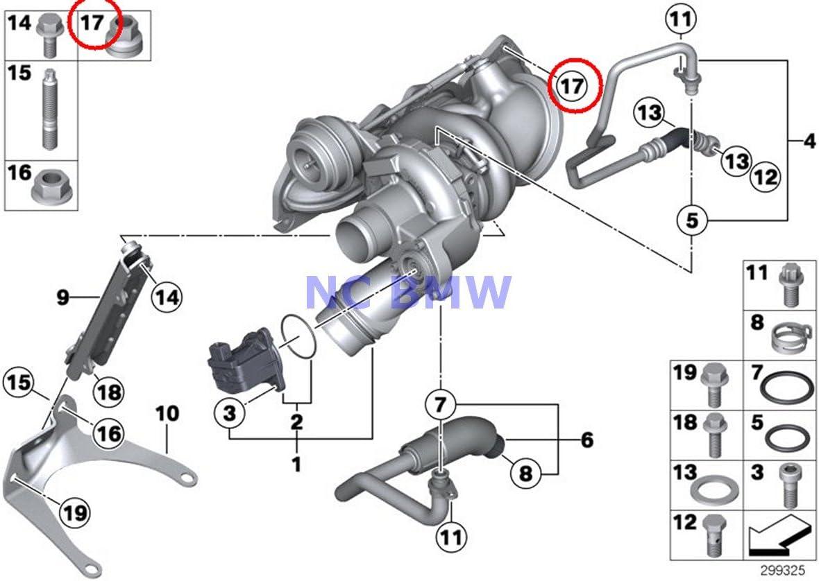 Manifolds 10 x BMW Mini Genuine Copper Collar Nut Exhaust Manifold ...