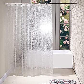 Aoohome 36x72 Inch Shower Curtain Liner Mildew Resistant EVA Shower