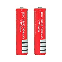 Skytower BRC 18650 3000mAh 3.7V Lithium Rechargeable Battery for Ultrafire Cree LED Flashlight Torch Headlamp (Pair)
