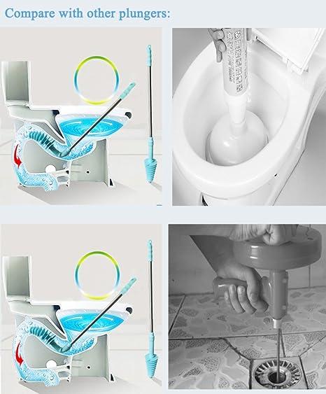 Piston Type Bendable Toilet Plungers Bathroom Closetool Dredge Easy Clean