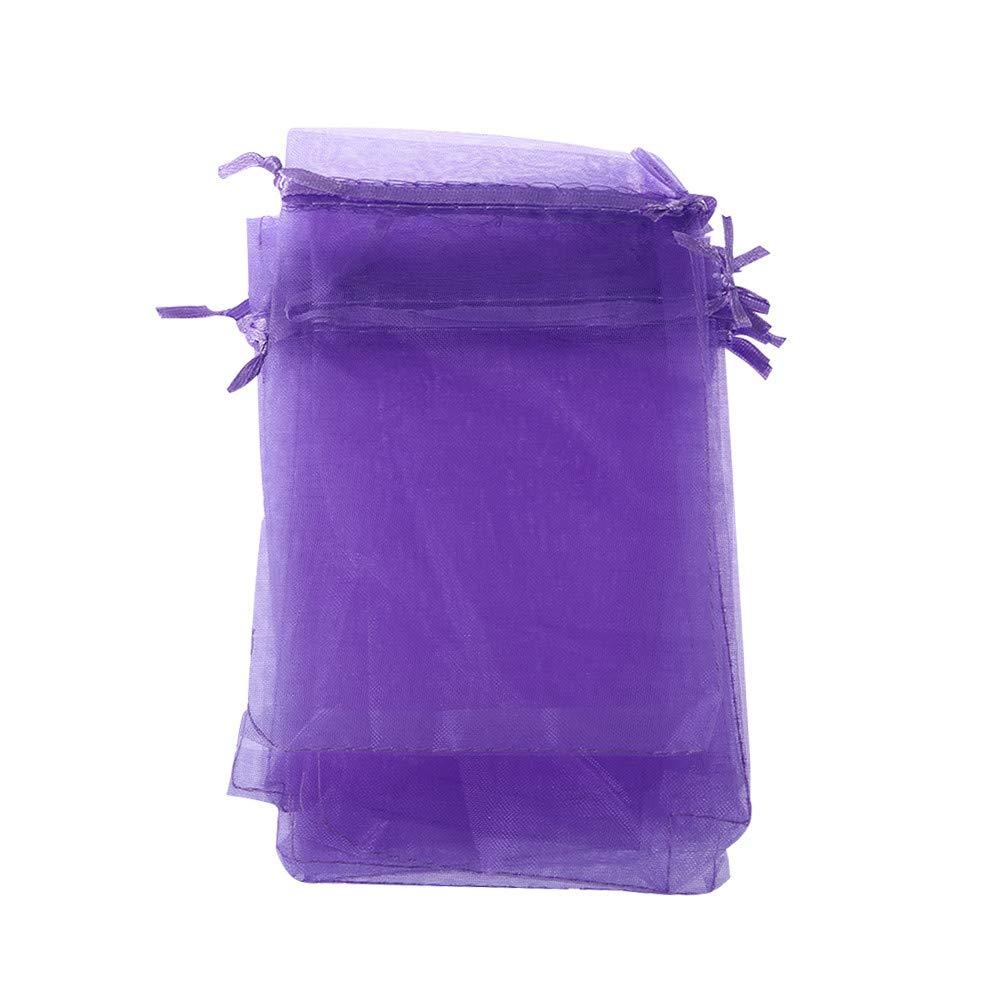 Lila Toyvian Organzas/äckchen Leer Organzabeutel Kordeltasche Lavendel Beutel S/ü/ßigkeiten Taschen 100 St/ück