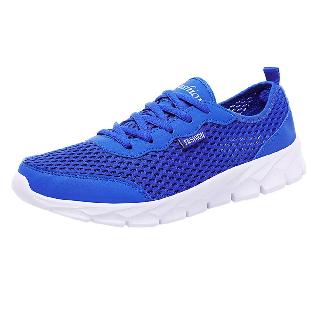 OutTop(TM) Couple Sneakers Summer Casual Sports Shoes Mesh Beach Breathable Students Running Walking Shoes (US:10, Blue)