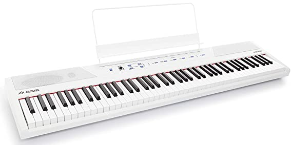 Amazon.com: Alesis Recital White 88-Key Beginner Digital Piano with Full-Size Semi-Weighted Keys and Power Supply - Limited Edition: Musical Instruments