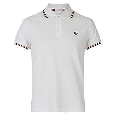 big sale 94b23 925f3 Moncler Men's 834560084556001 White Cotton Polo Shirt ...