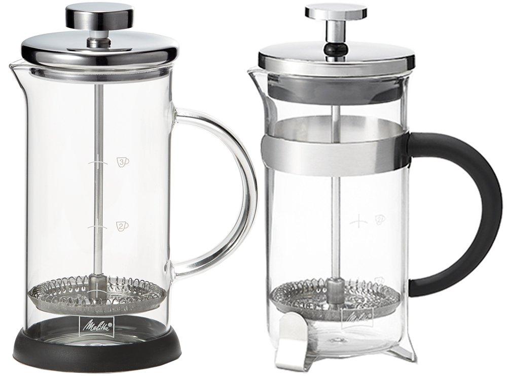 Adapt/é au Micro-Onde 9 Tasses 1,2 L Acier Inoxydable Pour Caf/é ou Th/é French Press Standard Melitta Cafeti/ère /à Piston en Verre Inox