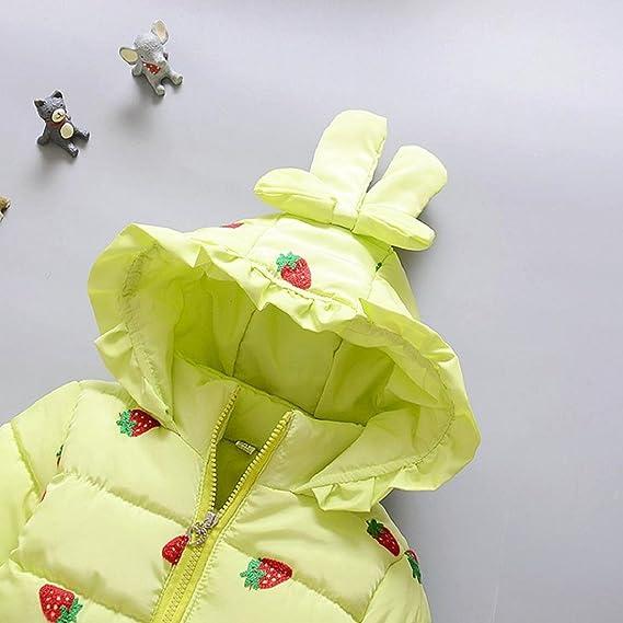 6cf6988c0 Amazon.com  Toddler Baby Girls Winter Warm Coat Outwear Strawberry ...