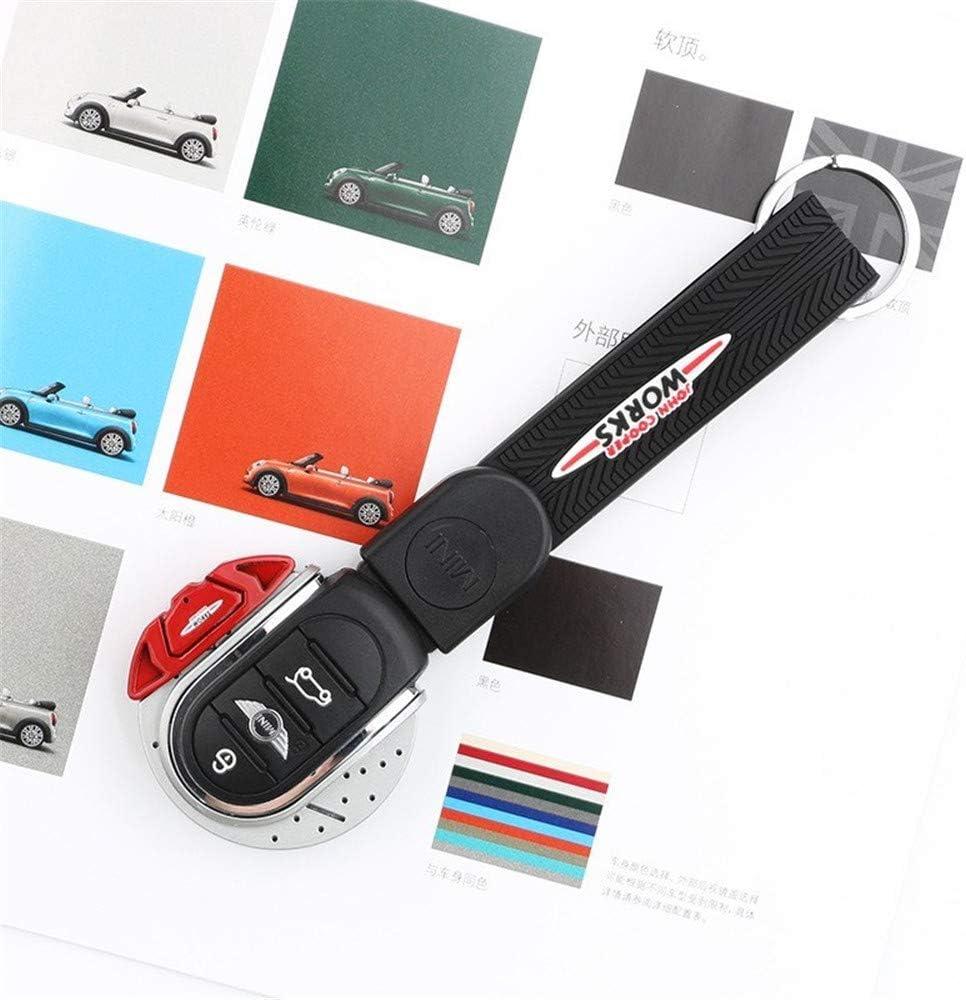 Styling-Zubeh/ör f/ür Mini Cooper Countryman F60 JCW Clubman F54 F55 F56 F57 Cover And Rope Black Schl/üsselgeh/äuse LONGSUODI f/ür Mini F60 Auto-Fernbedienung