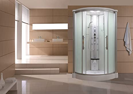 Sliding Door Steam Shower Enclosure Unit Glass Color Frosted