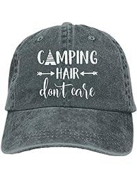 38fdcff11d2 Unisex Camping Hair Don t Care Vintage Adjustable Baseball Cap Denim Dad Hat