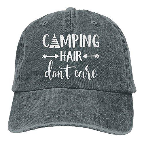 omized Unisex Camping Hair Don't Care Vintage Adjustable Baseball Cap Denim Dad Hat ()