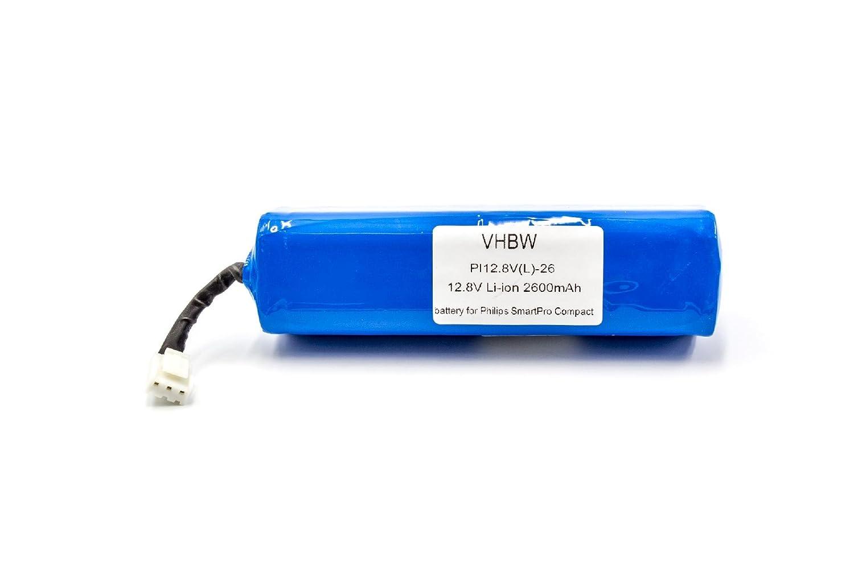 vhbw Li-Ion batería 2600mAh (12.8V) para robot autónomo de limpieza Philips Smartpro Compact FC8710: Amazon.es: Hogar