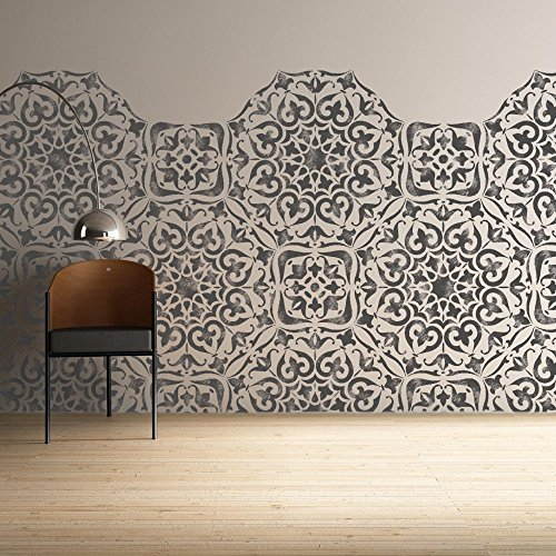 Mysuru Indian Furniture Wall Floor Stencil for Painting - Furniture Large