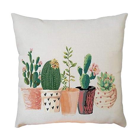 LEEDY Cactus - Funda de cojín para Decorar el hogar, sofá ...