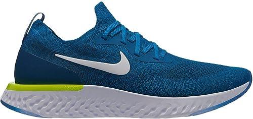 new arrival c440b 7c165 Nike Epic React FlyknitMen's Running Shoe Green Abyss/White-Blue Force-Volt  8.0