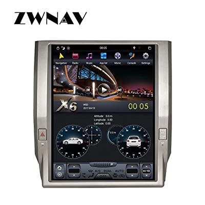 ZWNAV 12.1 inch Android 8.1 Car Stereo for Toyota Tundra 2014-2020, 4G RAM 64G ROM, Auto AC, Manual AC, Steering Wheel Control, Voice Control, Radio, Bluetooth, WiFi, HDMI (64G Built-in Carplay): GPS & Navigation