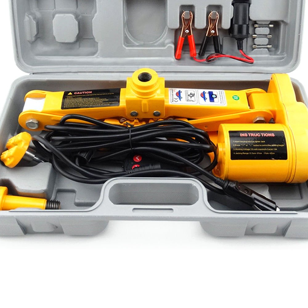OUKANING Electric Car Jack 2 Tonnen Auto Repair Tool Ki 125 mm-420 mm 12 V ALL-IN-ONE Automatische Fahrzeug LIFT Scherenwagenheber