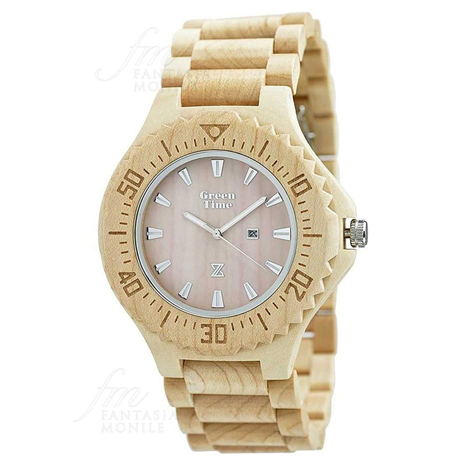 Uhr Green Time Herren Holz Ahorn Wood zw001b
